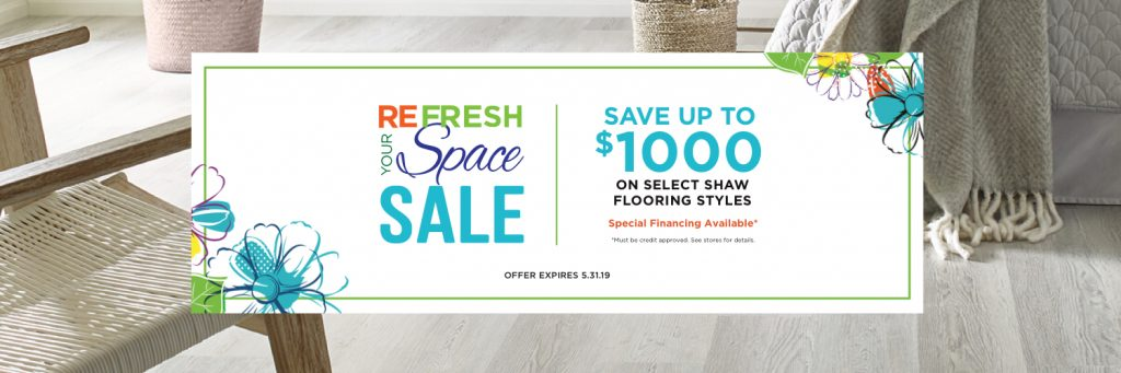Refresh Your Space Sale coupon | Carefree Carpets & Floors