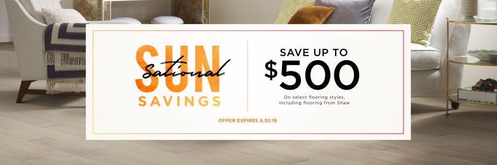 SunSational Savings Sale | Carefree Carpets & Floors