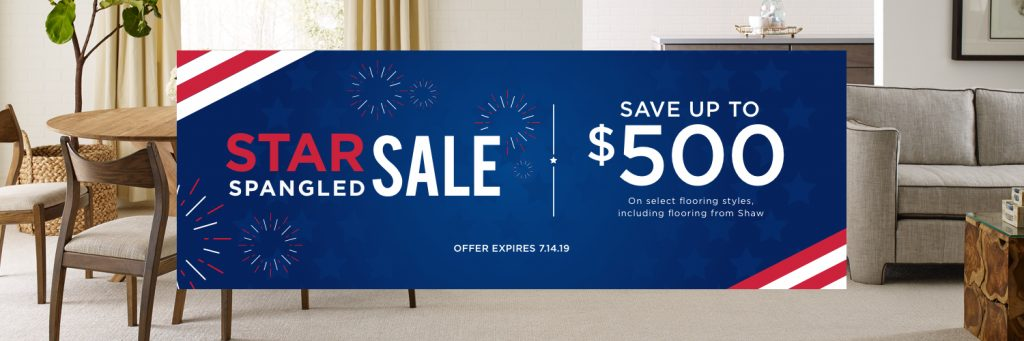 Star Spangled Banner Sale | Carefree Carpets & Floors